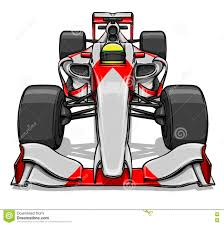 cartoon race car front view funny fast cartoon formula race car illustration art