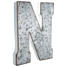 metal letters wall decor wall metal letter galvanized n large galvanized metal letter wall decor letters pinterest