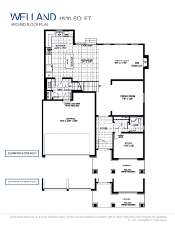 Floor Plan With Elevation by Welland Tartan Homes