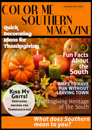 ten facts about thanksgiving color me southern magazine issue 02 november 2015 joomag newsstand