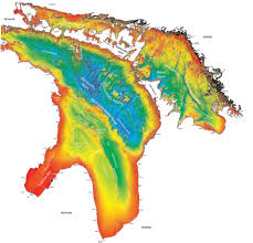 Map Of Michigan Lakes Great Lakes Bathymetry And Shoreline Data Noaa Great Lakes