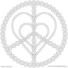 peace love coloring corazones hearts mandela coloring