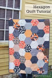 large hexagon quilt tutorial the polka dot chair blog
