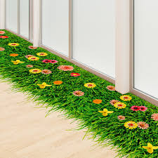 floor decor and more shijuehezi flower lawn floor sticker environmental pvc material