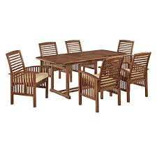 walker edison furniture company boardwalk 7 piece dark brown