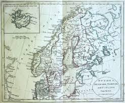 Scandinavia Map Map Of Scandinavia 1805