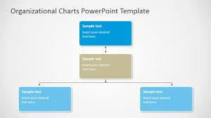 powerpoint three levels square nodes tree org chart slidemodel