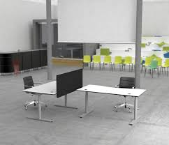 Sit Stand Office Desk by Flow Sit Stand Desk Table Dividers From Cube Design Architonic