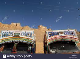 golden trucks trucks the golden city of jaisalmer rajasthan india stock photo