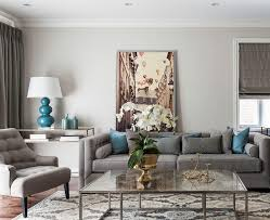 gray blue color scheme living room beach style with green