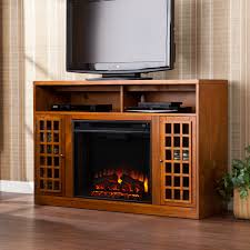 Media Electric Fireplace Media Electric Fireplace Glazed Pine