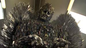 Angel Sculptures 100 000 Weapons Turned Into Knife Angel Sculpture Bbc News