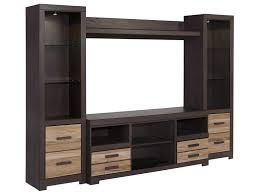 Tv Unit Furniture Signature Design By Ashley Zappa Large Tv Stand U0026 2 Tall Piers
