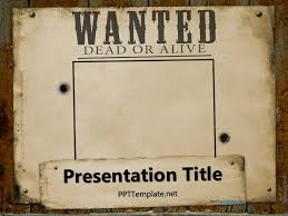 wanted poster powerpoint template wanted poster template