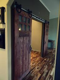 Sliding Horse Barn Doors by Sophisticated Double Barn Doors Interior With Glass Top And
