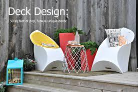 today u0027s blog post on hgtv ca deck design 50 sq feet of pop funk