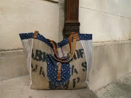 sac cabas en lin grand sac cabas réalisé en toile de jute de sac a café jean et
