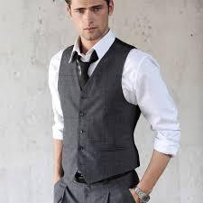 men u0027s fashion charcoal waistcoat vest white shirt charcoal
