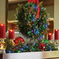 Color Changing Christmas Trees - 9 u0027 pre lit color changing christmas garland improvements catalog