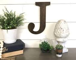 large wooden letters etsy