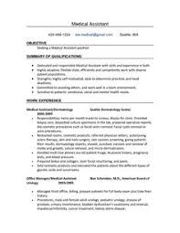 Resume Template For Medical Assistant Entry Level Medical Assistant Resume With No Experience Resume
