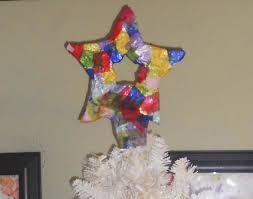 christmas art crafts for kids paper mache star tree topper