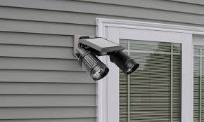 Security Light Solar Powered - solar powered pir activated twin head security light groupon