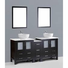Contemporary  Inch Dark Espresso Double Vessel Sink Bathroom - Bathroom vanities double vessel sink