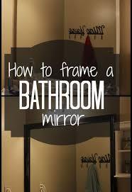 how to frame a builder grade bathroom mirror hometalk
