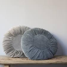 Cushions Velvet Round Velvet Cushion Homeaddress