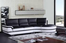 Leather Sectional Sofa casa rapture modern black and white eco leather sectional sofa