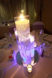 used wedding centerpieces wedding centerpieces with purple led lights and candleswedwebtalks