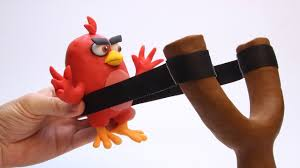 shooting angry birds baby red angry bird stop motion movies