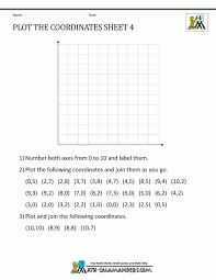 coordinate worksheets free geometry plot the coordinates 4