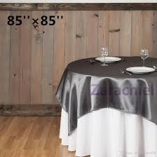 wholesale black tablecloth overlay 215cmx215cm 85x85 squaretop