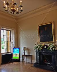 rise hall stately home east yorkshire digital media systems digital screen for eye catching messages
