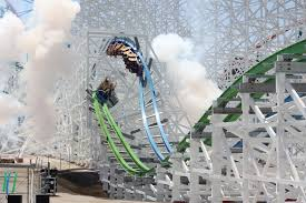 Six Flags Rollercoaster Twisted Colossus Opens At Six Flags Magic Mountain