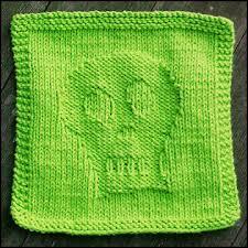 skully dishcloth knitting bee