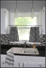 Ideas For Kitchen Window Treatments Piquant Yellow For Kitchen Window Also Kitchen Window Treatment