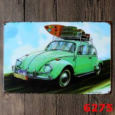 2017 new car sign vintage home decor tin sign bar cafe hotel wall