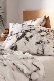 marble print duvet set urban outfitters