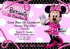personalized minnie mouse invitations minnie mouse rosa invitaciones de fiesta de cumpleaños ebay