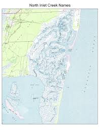 Map Of North And South Carolina Reserve Maps And Images North Inlet Winyah Bay National Estuarine