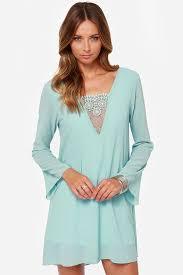 light blue long sleeve dress pretty light blue dress lace dress long sleeve dress 42 00