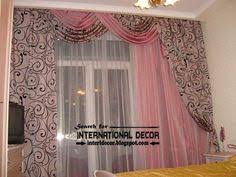 Decorative Wooden Partition Wall In Modern Living Room Design - Curtain design for bedroom