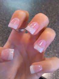 acrylic white tips great for prom and graduation events nail