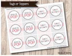instant download printable ready to pop baby shower tags or