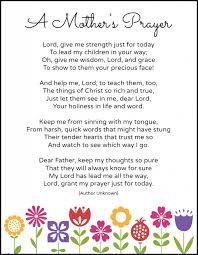 a mother u0027s prayer free printable live called