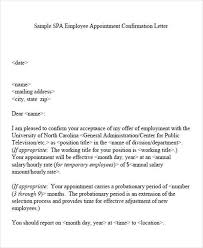 Confirmation Extension Letter Format appointment letter format