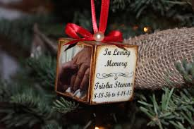 in loving memory ornament photo personalized